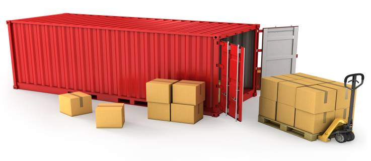banner container chứa hàng